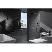 Conjunto de ducha empotrada Negro Oro Rosa Suecia Imex