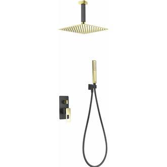 Conjunto de ducha Estocolmo Negro Oro Imex