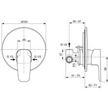 Pack empotrable exterior ducha Ceraplan III Ideal Standard