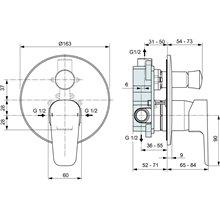Pack empotrable exterior baño-ducha Ceraplan III Ideal Standard