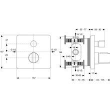Grifo empotrable ducha Ceratherm 200 Ideal Standard