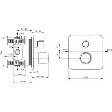 Grifo empotrable ducha Tonic II Ideal Standard