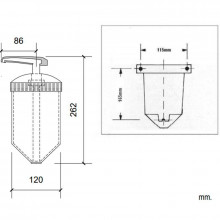 Dosificador de jabón translucido Basic Nofer