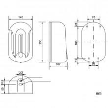 Dosificador de jabón ABS blanco Automatic Nofer