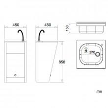 Lavabo registrable electrónico acero NOFER
