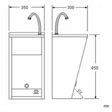 Lavabo registrable mini acero NOFER