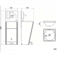 Lavabo portátil acero NOFER
