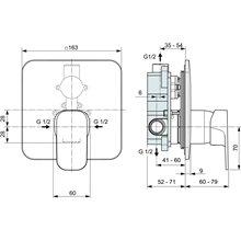 Grifo empotrable exterior ducha Tonic II Ideal Standard