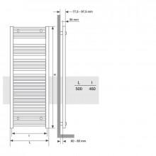 Radiador toallero Mithos Omicron Electric 75...