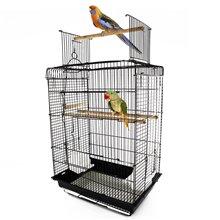 Jaula para pájaros con techo convertible Pawhut