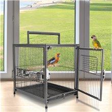 Jaula para pájaros ideal para viajes Pawhut