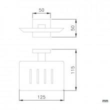 Jabonera rectangular barcelona NOFER