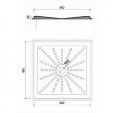 Plato de ducha PVC 80x80 cm NOFER