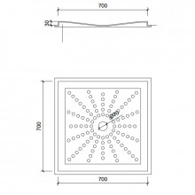 Plato de ducha PVC 70x70 cm NOFER