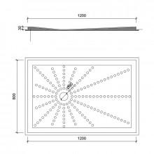 Plato de ducha PVC 120x80 cm NOFER