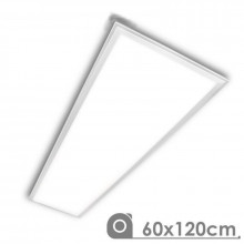 Panel LED 60x120 rectangular 72W PLATA