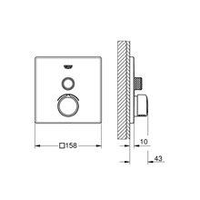 Grifo mezclador empotrado con 1 llave Smart Control GROHE