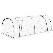 Invernadero transparente 250x100x80cm Outsunny