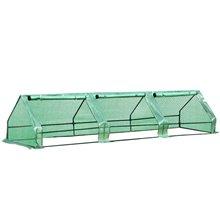 Invernadero verde 400x100x80 Outsunny
