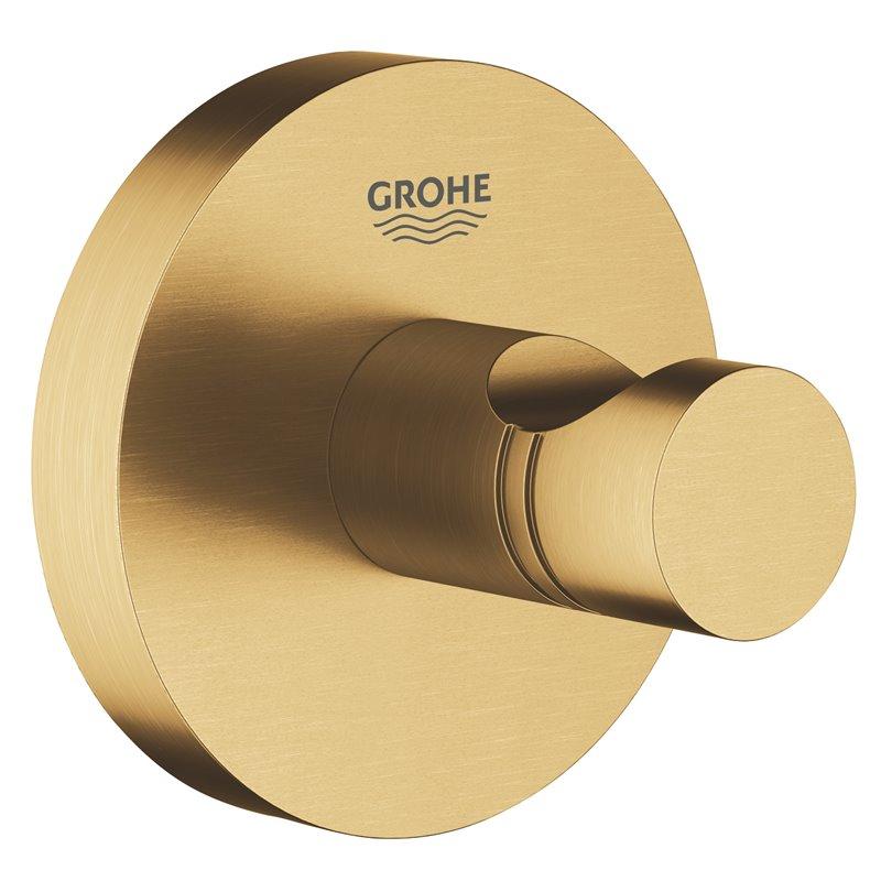 Colgador de base circular oro cepillado Essentials Grohe
