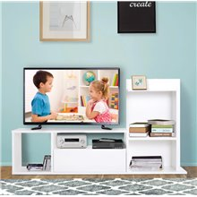 Mueble de televisón con estante y cajón HomCom