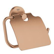 Portarrollos con tapa cobre cepillado Essentials Grohe