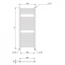 Radiador toallero Talia WF 150 Ferroli