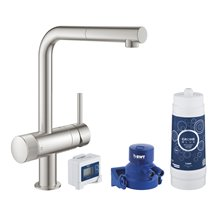 Grifo de fregadero supersteel Starter Kit Blue Pure Mint Grohe