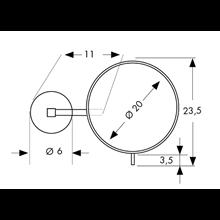 Espejo de aumento x5 con joystick Baño Diseño