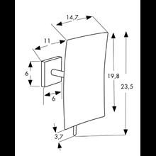 Espejo de aumento x5 extensible cuadrado Baño Diseño