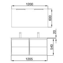 Mueble doble 120cm Blanco Noja Salgar