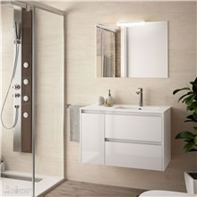Mueble de baño 855 Izquierda Blanco brillo NOJA SALGAR