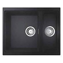 Fregadero con 2 cubetas 55.5x46 negro granito K500 Grohe