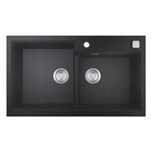 Fregadero con 2 cubetas 86x50 negro granito K500 Grohe