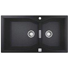 Fregadero con 2 cubetas 90x50 negro granito K700 Grohe
