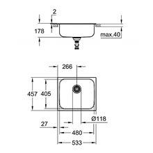Fregadero acero inoxidable 53.3x45.8 K200 Grohe