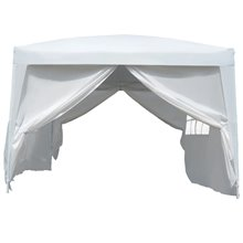 Carpa gazebo transportable blanca Outsunny