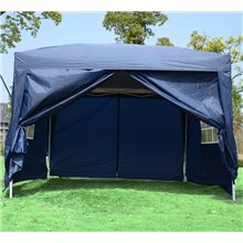 Carpa gazebo transportable azul Outsunny