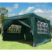 Carpa gazebo transportable verde Outsunny