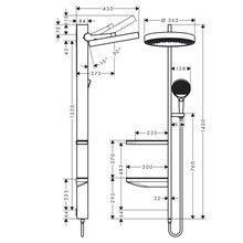Columna de ducha cromo Rainfinity 360 1jet Hansgrohe