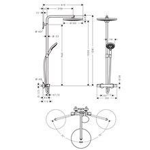 Columna de ducha 300 2jet Raindance Select S Hansgrohe