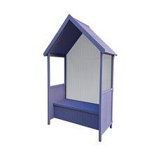 Marquesina de madera para jardín Alice Purple Gardiun