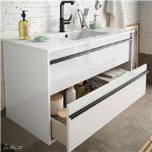 Mueble 80 cm Blanco 2 cajones ATTILA SALGAR