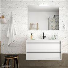 Mueble 100 cm Blanco 2 cajones ATTILA SALGAR