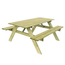 Mesa madera picnic para 6 comensales Essential Gardiun