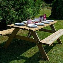 Mesa madera picnic para 6 comensales Essential...