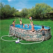 Piscina de aspecto piedra Power Steel Oval...