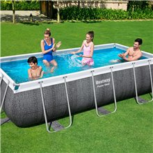 Piscina 404x201cm Power Steel Rectangular Bestway