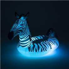 Flotador hinchable Cebra con LED Bestway
