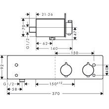 Grifo termostático para ducha 350 ShowerTablet...